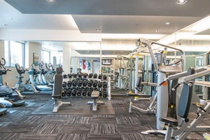 Apartments Seattle - Cyrene Fitness Center with Weights and Cardio Machines